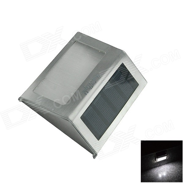 YouOKLight 0.2W 6000K 2-LED White Light Control Solar Wall Lamp - Silver