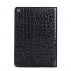 Crocodile Skin Pattern Protective PU Leather Wallet Case for IPAD AIR 2 - Black