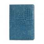 Crocodile Skin Pattern Protective PU Leather Wallet Case for IPAD AIR 2 - Blue