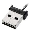 Mini USB 2.0 Micro SD / TF Memory Card Reader - Black