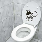 25 x 25cm Funny Kids Pattern Toilet Sticker Window Decal Wall Stikcer for Home Decor - Black