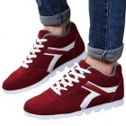 NT00546-4 Men's Stylish Casual Warm Walking Shoes - Red (Size 43)