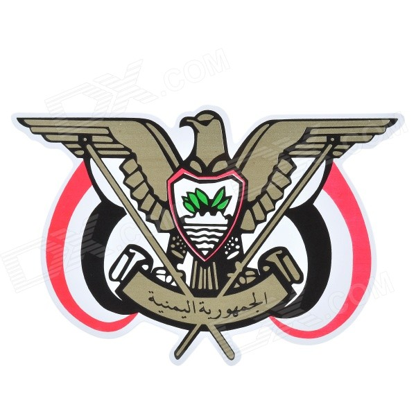 Arab Eagle Style Car PVC Decoration Sticker Decal - Gold + Black + Multicolored promoting social change in the arab gulf