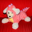 Dinosaur Cosplay Coat Clothes for Pet Cat / Dog - Pink (Size L)