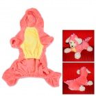 Dinosaur Cosplay Coat Clothes for Pet Cat / Dog - Pink (Size S)
