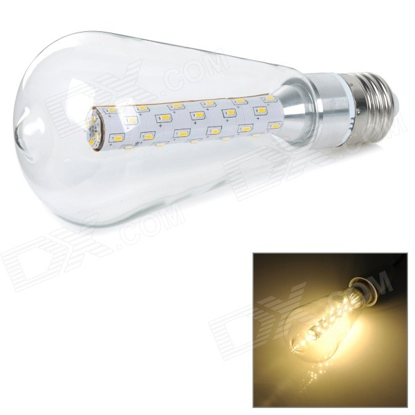5W E27 480lm 3000K Warm White Light 3014 SMD LED Bulb - Silver (AC 85~265V) honsco e27 5w 400lm 3000k 84 smd 2835 led warm white light bulb white silver ac 85 265v