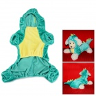 Dinosaur Cosplay Pleuche Coat Clothes for Pet Cat / Dog - Green (Size S)