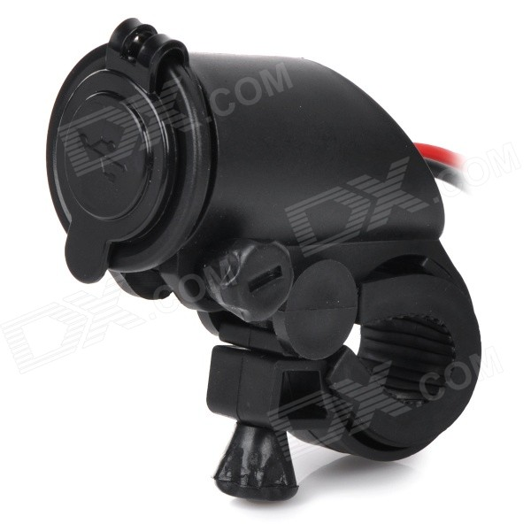 DIY Motorcycle Gun Shaped Dual-Port USB Power Charger - Black