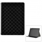 Protective PU Leather Flip Open Case w/ Card Slots / Stand for IPAD AIR 2 - Black