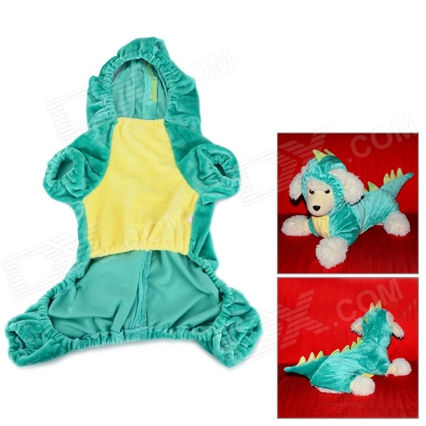 Dinosaur Cosplay Coat Clothes for Pet Cat / Dog - Green (Size L) бумага revcol в саратове