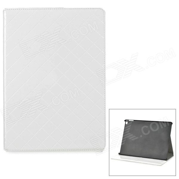Protective PU Leather Flip Open Case w/ Card Slots / Stand for IPAD AIR 2 - White держатель для мобильных телефонов samsung s5 i9600
