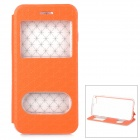 Asterisk Gemusterte Flip-Open PU Fall w / Stand für IPHONE 6 PLUS - Orange