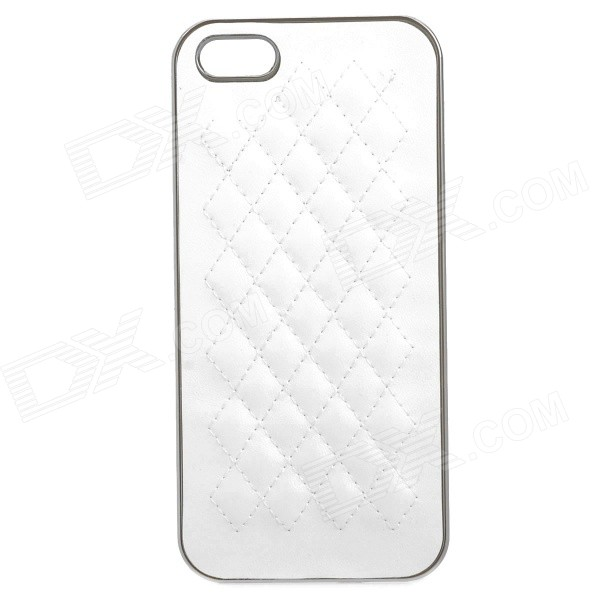 Protective ABS Back Case for IPHONE 5 / 5S - White stylish bubble pattern protective silicone abs back case front frame case for iphone 4 4s