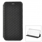 Asterisk Patterned Flip-Open PU Case w/ Stand for IPHONE 6 PLUS - Black