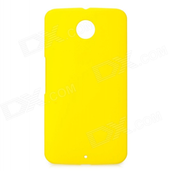Protective PC Back Case for Google Nexus 6 - Yellow