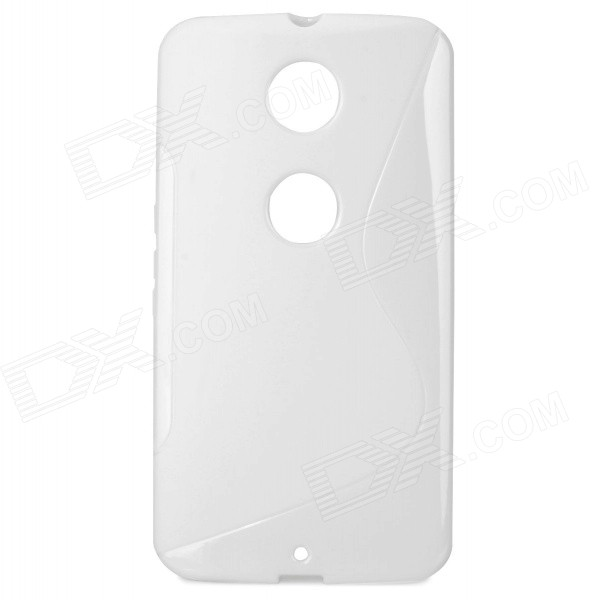 S Pattern TPU Back Case Cover for Google Nexus 6 - White high quality x line tpu case cover skin soft gel for google nexus 7 ii 2 2013 2nd 2 generation free shipping