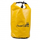 Acecamp 2460 Outdoor Camping Waterproof Dry Bag w/ Shoulder Strap - Yellow (47x21cm / 10L)