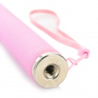 7-Section Retractable Handheld Monopod + Bluetooth Self-Timer Set - Translucent Pink