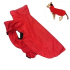 Waterproof Nylon + Fleece Jacket  for Pet Dog - Red (Size L)