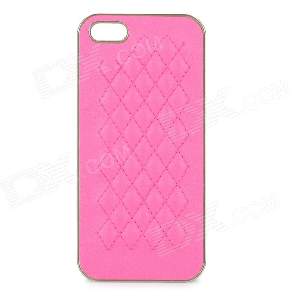 Protective ABS Back Case Cover for IPHONE 5 / 5S - Deep Pink virgo pattern protective abs pc hard back case w rhinestone for iphone 5 deep pink white