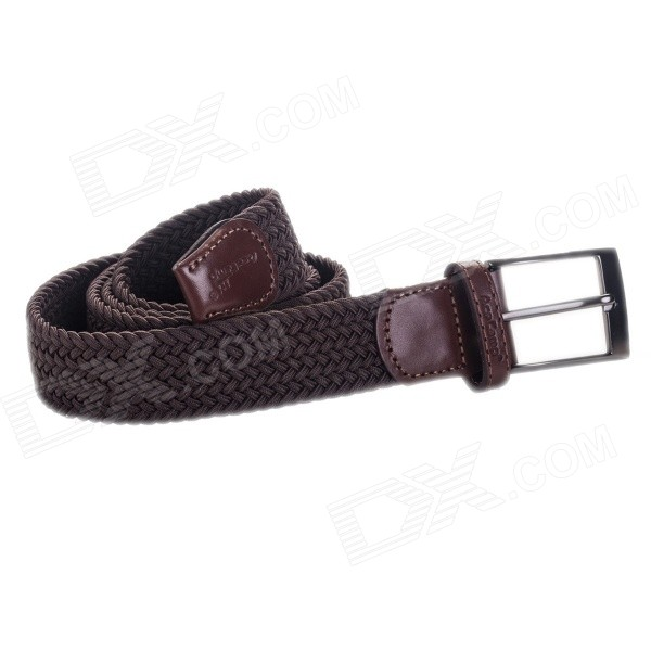 Acecamp 5114 Men's Fashionable Sports Elastic Pin Buckle PU Leather Belt - Coffee