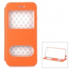 "Protective Dual-Fenster PU Fall w / Stand für IPHONE 6 4.7 ""- Orange"
