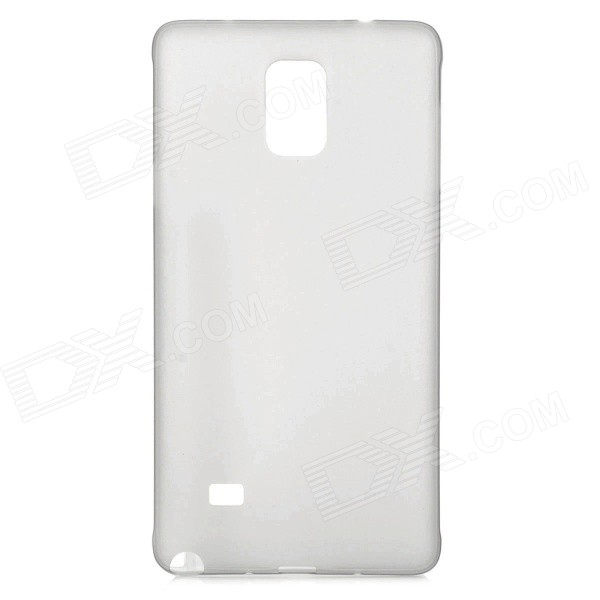 Ultra-Slim 0.3mm Matte Plastic Back Case for Samsung Note 4 / N9100 - Translucent Grey ultra slim clear phone cases for samsung galaxy s6