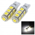 SENCART 5W T10 180lm 6500K White Light 5054 SMD LED Car Brake / Reversing Light (DC 12~16V / 2pcs)