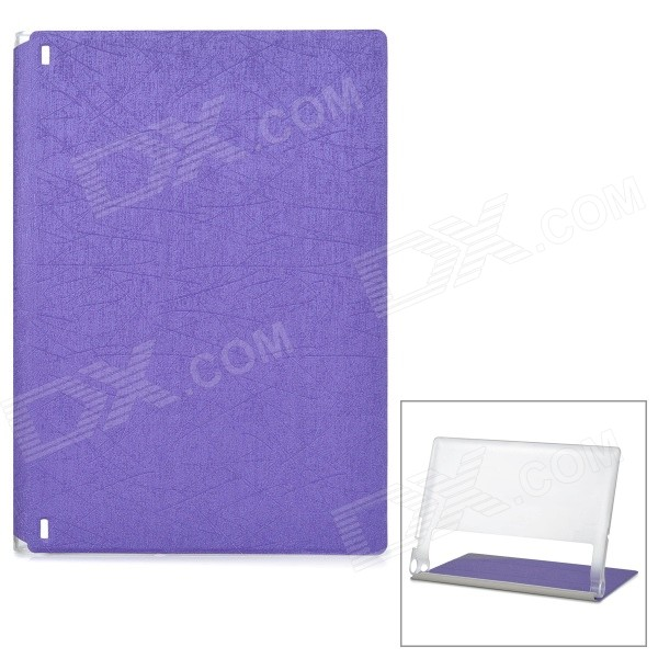 Protective PU Cover Stand Case w/ Translucent Back for Lenovo Yoga Tablet 2 1050F - Purple protective pu cover stand case w translucent back for lenovo yoga tablet 2 830f black
