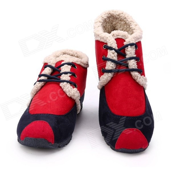 NT00543-2 Winter Wear Stylish Warm Contrast Color Cotton Leisure Shoes (Size 40 / Pair)Shoes<br>Color Red EUR Size 40 Model NT00543-1 Quantity 1 Set Shade Of Color Red Material Suede Style Casual Foot Length 25 cm Foot Girth 27.2 cm Heel Height 2 cm Boot Shaft Height 15.2 cm Packing List 1 x Pair of shoes<br>