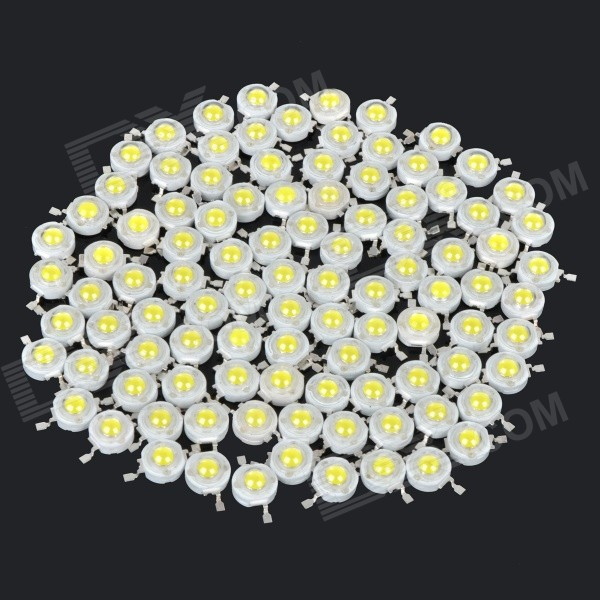 JR-LED 1W 90LM 7000K Cool White Light LED Emitter - White + Yellow (3.0~3.2V / 100 PCS)