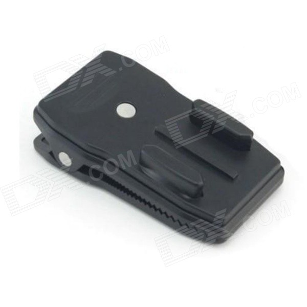 360 Degree Rotatable Multi-purpose Camera Mount Clip for Backpack - Black