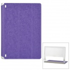 Protective PU Cover Stand Case w/ Translucent Back for Lenovo Yoga Tablet 2 830F - Purple