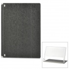 Protective PU Cover Stand Case w/ Translucent Back for Lenovo Yoga Tablet 2 1050F - Black
