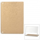 Protective PU Cover Stand Case w/ Translucent Back for Lenovo Yoga Tablet 2 1050F - Champagne Gold