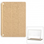 Protective PU Cover Stand Case w/ Translucent Back for Lenovo Yoga Tablet 2 830F - Champagne Gold