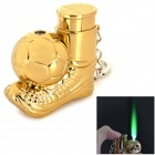 sysh0069 Creative Ball Boot & Football Shaped Windproof Butane Lighter - Golden