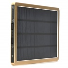 Universal Mobile Solar 10000mAh Power Bank w/ Dual-USB - Gold + Black