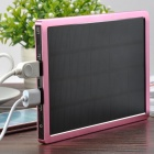Universal Mobile Solar 10000mAh Power Bank w/ Dual-USB - Pink + Black