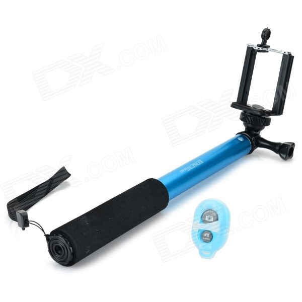 EOSCN ES-902 Mini Hand Held Monopod w/ Bluetooth Remote Control for Camera and Cellphone - Blue