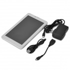 "7 ""IPS quad-core Android 4.4 TD-SCDMA 3G Tablet PC w / Dual-SIM, 8 GB ROM, BT - White + zilver"