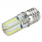 E17 5W 350lm 7000K 64-SMD 3014 LED Cool White Light Bulb - White + Silver (110~240V)
