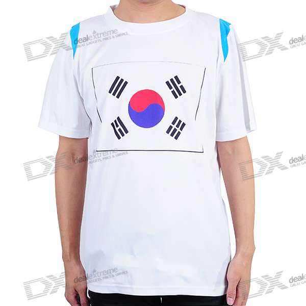 National Football/Soccer Team T-Shirt - South Korea (L-Size)