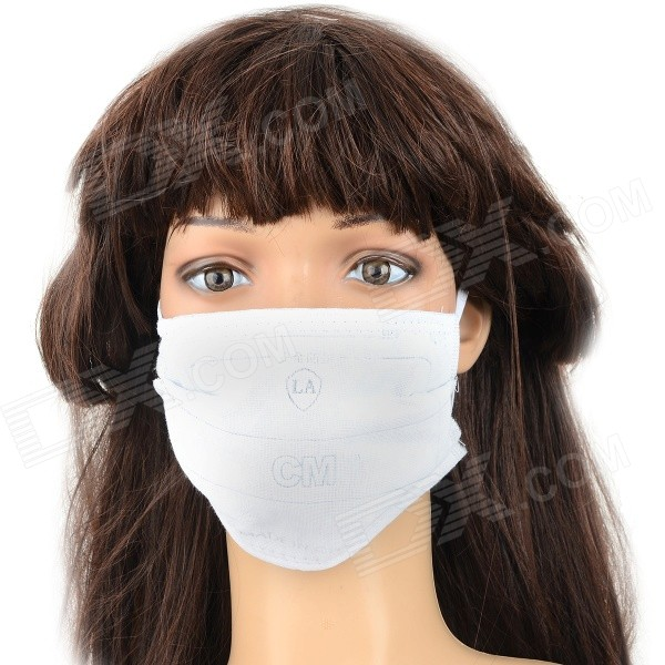 Activated Carbon Thickened Anti-dust PM2.5 Safety Face Mask - White