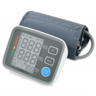 "U80EH 3.5"" LCD Armband Style Blood Pressure Meter Monitor - White + Grey (4 x AA)"