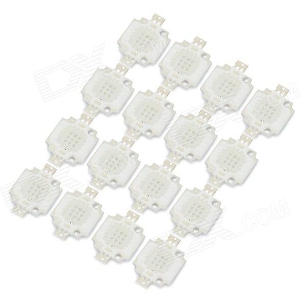 JRLED 10W 400LM 470nm 9-LED azul emissor de luz Boards - Branco + Silver (DC 10 ~ 11V / 16 PCS)