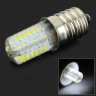 E14 3W 250lm 10000K 48-SMD 3014 LED Cool White Corn Lamp - White + Yellow (AC 220V)