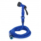 7.5m Expandable Hose & Nozzle Spray Head Water Gun Set for Car Wash / Garden Watering - Blue