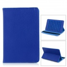 Universal Protective Flip-Open Suction-Cup PU Leather Case Cover w/ Stand for Tablet PC - Blue