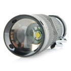 Multi-functional 230lm 3-Mode White Zooming Flashlight Set - Black (1 x AA / 1 x 14500)